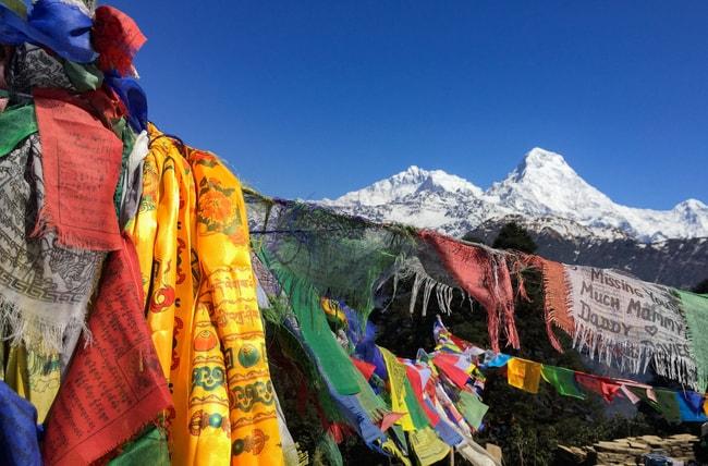 banderas de oracion en nepal