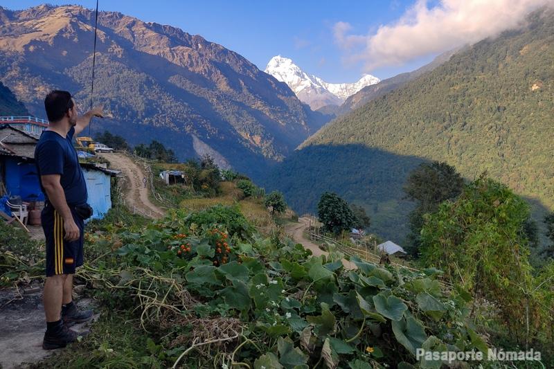vistas hacia el annapurna sur desde ulleri