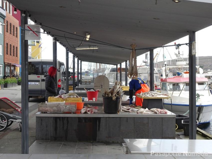 mercado de pescado siutorgid en torshavn