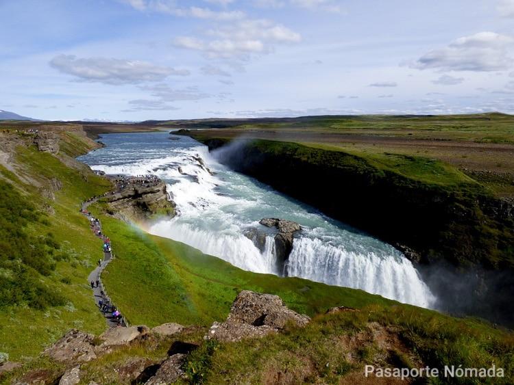 gulfos una de las cascadas mas bonitas de islandia