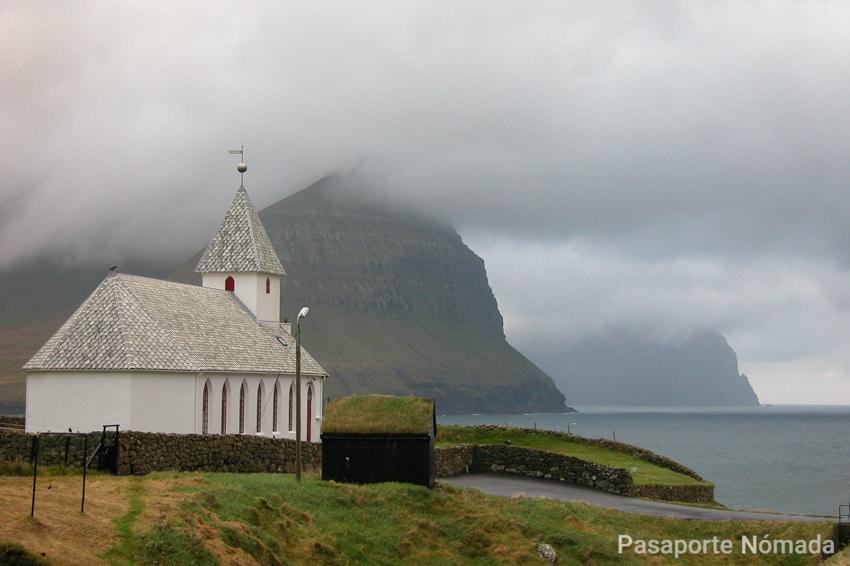 iglesia de vidareidi en la isla de vidoy
