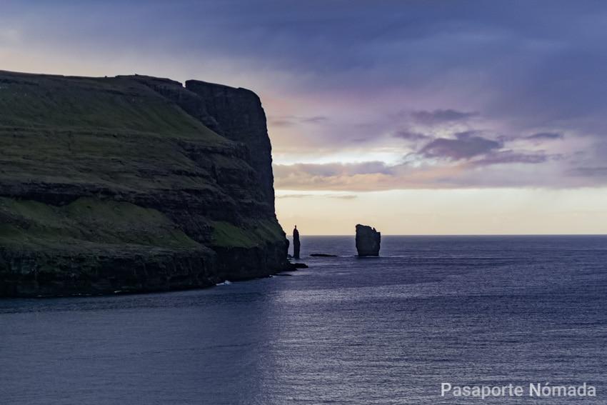 islotes de resin y kellingin en las islas feroe