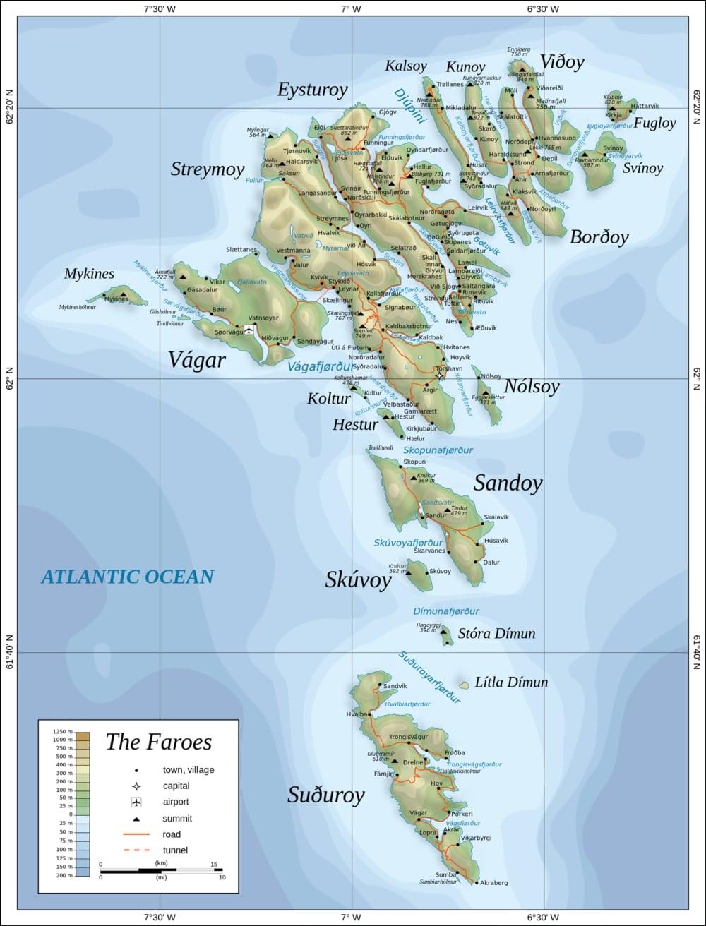 mapa de las islas feroe pasaporte nomada