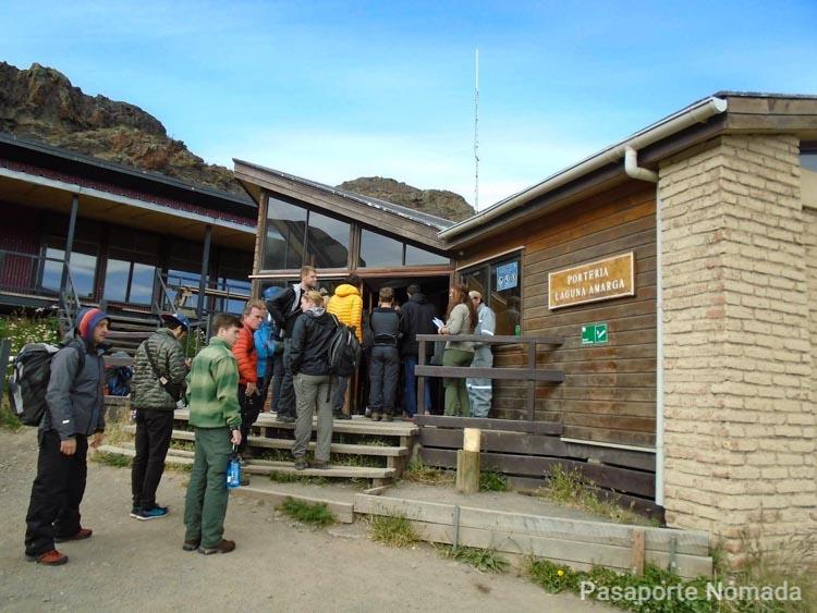 porteria de laguna amarga en el parque nacional torres del paine