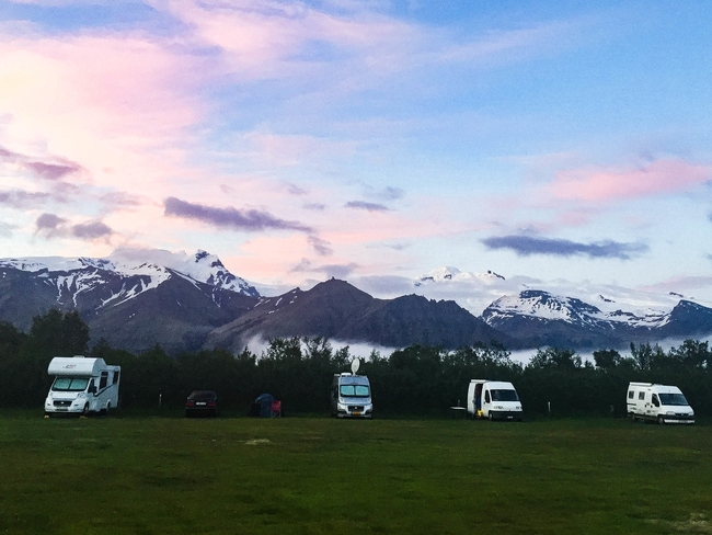 ruta por la ring road islandia camping de skaftaffel
