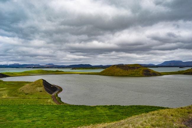 seudocrateres del lago myvatn islandia