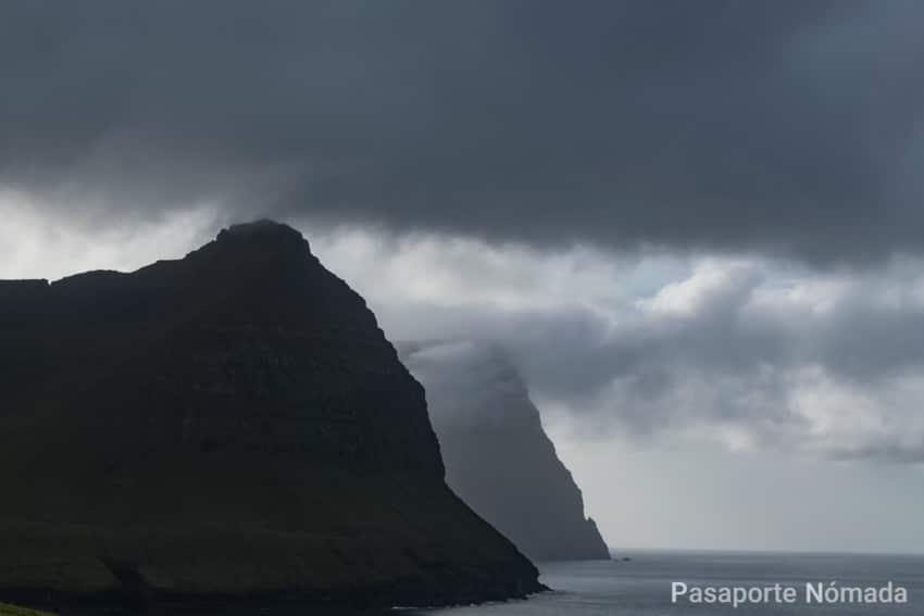 vistas hacia las islas de botdoy y kunoy desde vidareidi