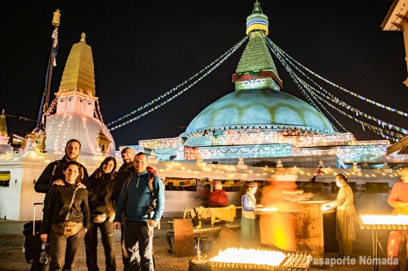 atardecer en la stupa de bodhanath