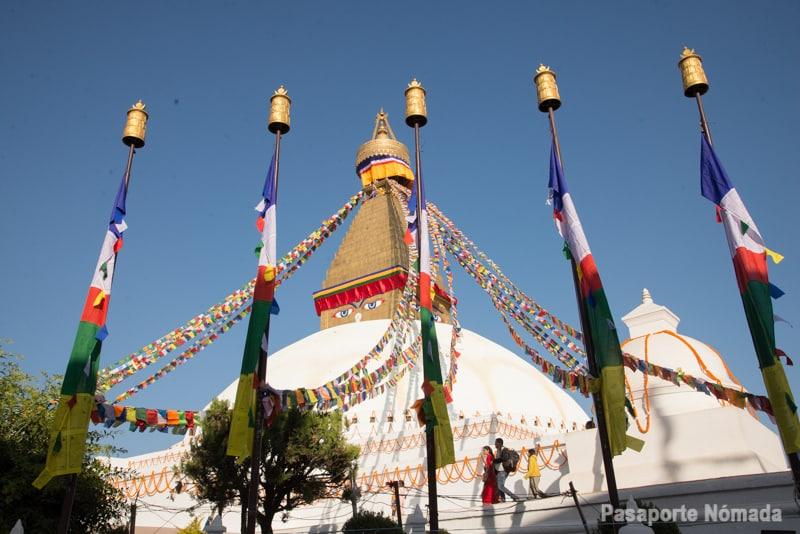 bodhanath stupa en kathmandu