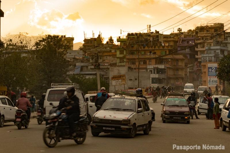 calles de la ciudad de kathmandu