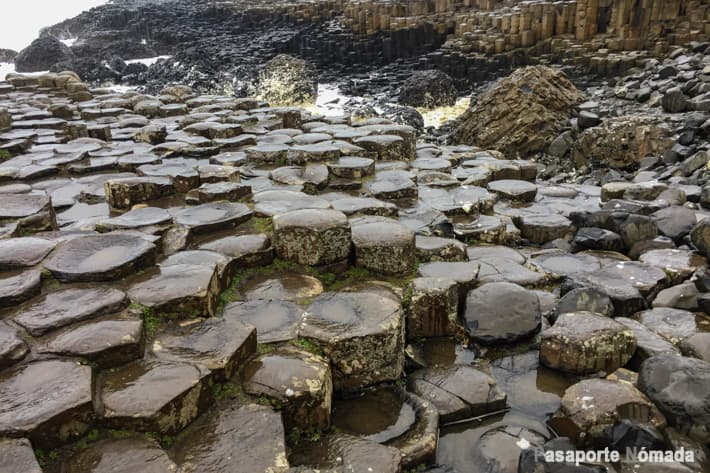 columnas de basalto en la calzada del gigante irlanda