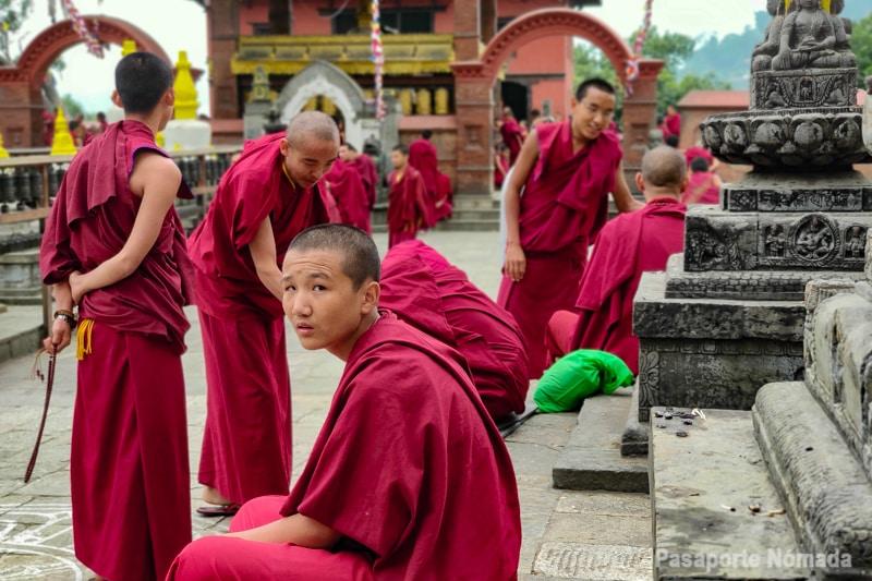 monasterio budista cerca de sawambunath en kathmandu