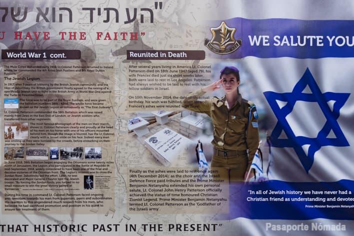 mural en apoyo al estado de israel en belfast