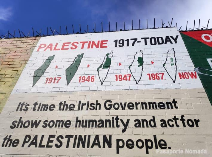 mural palestino en belfast