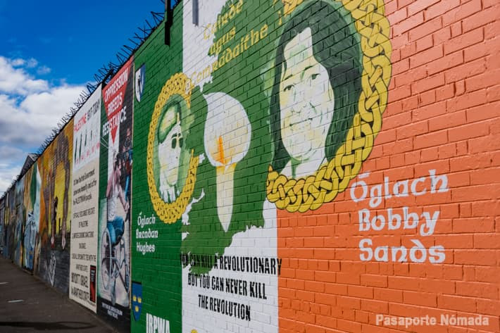 mural republicano en west belfast