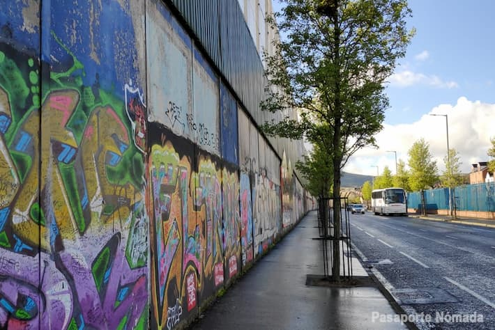 muro de la paz en belfast