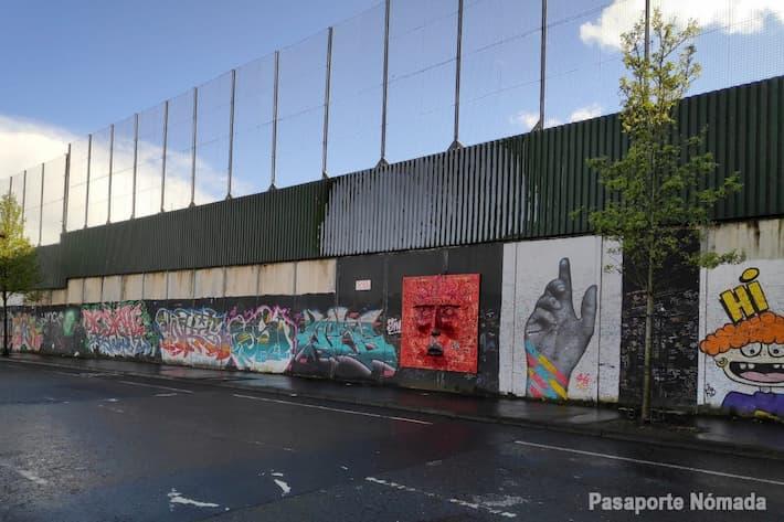 muros de la paz en west belfast