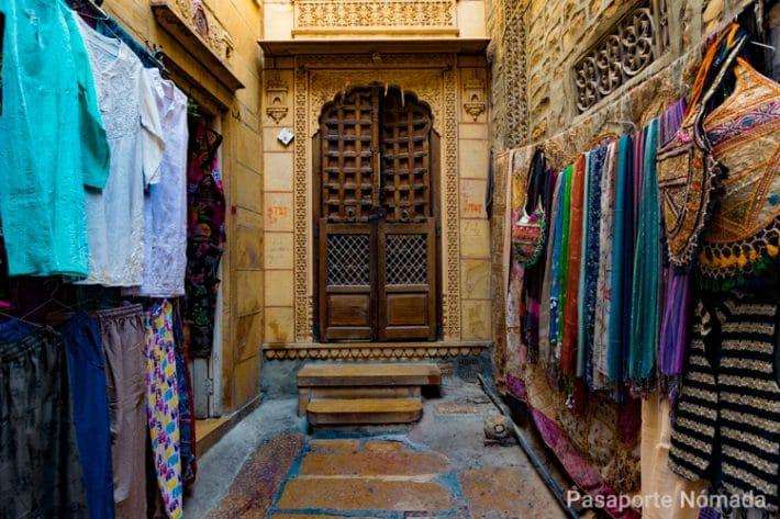 detalles de los callejones en jaisalmer