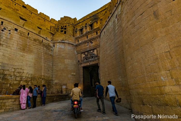 entrada al fuerte de jaisalmer