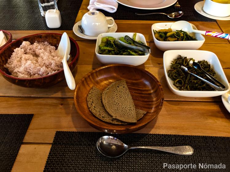 dieta vegetariana gastronomia de butan