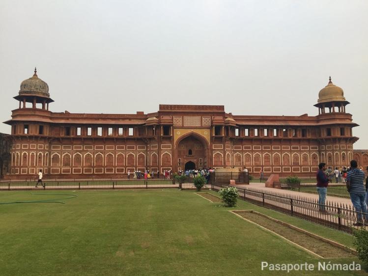 palacio kash mahal en el fuerte de agra
