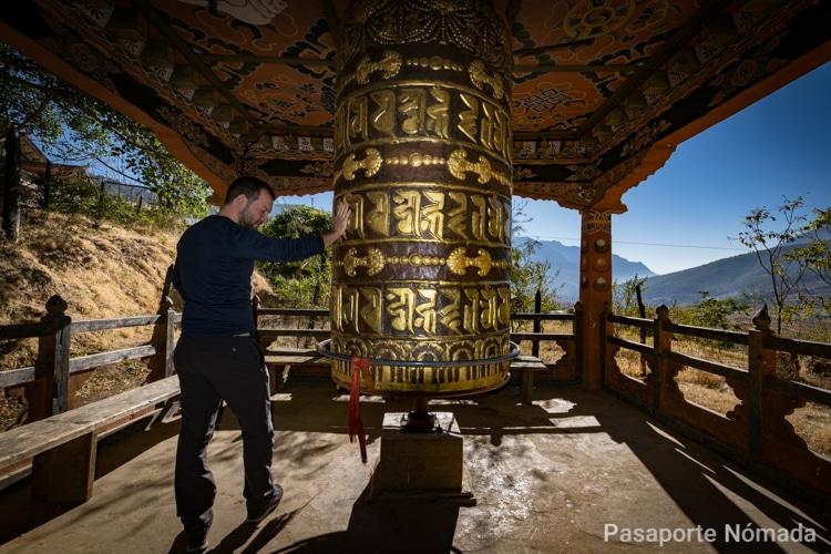 rueda de oracion en el monasterio chimmi lhakang en butan