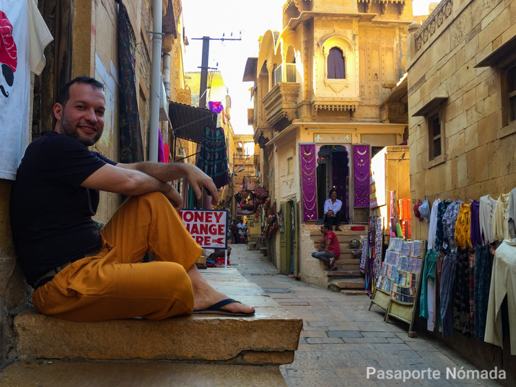 calles en la ciudad de jaisalmer