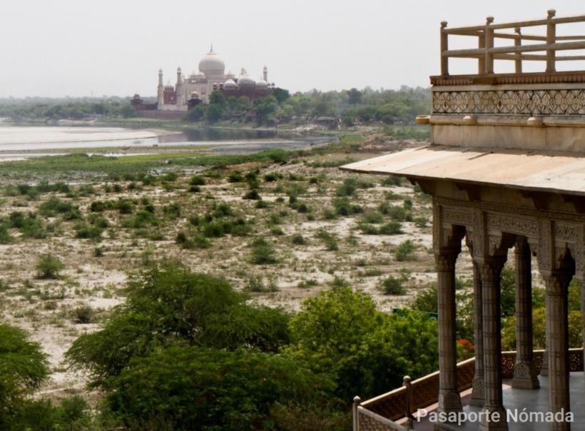 consejos para visitar el taj mahal vistas desde el fuerte de agra