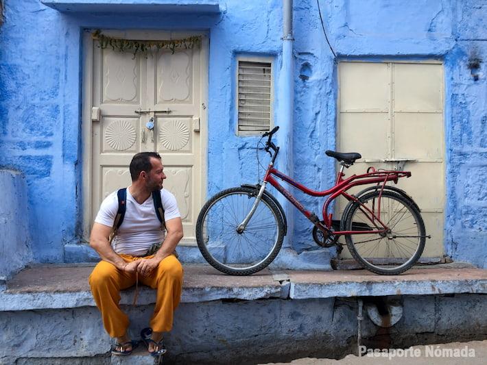 fachadas en la ciudad azul en jodhpur
