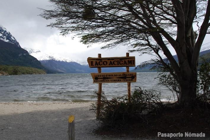 lago roca o acigami en tierra del fuego