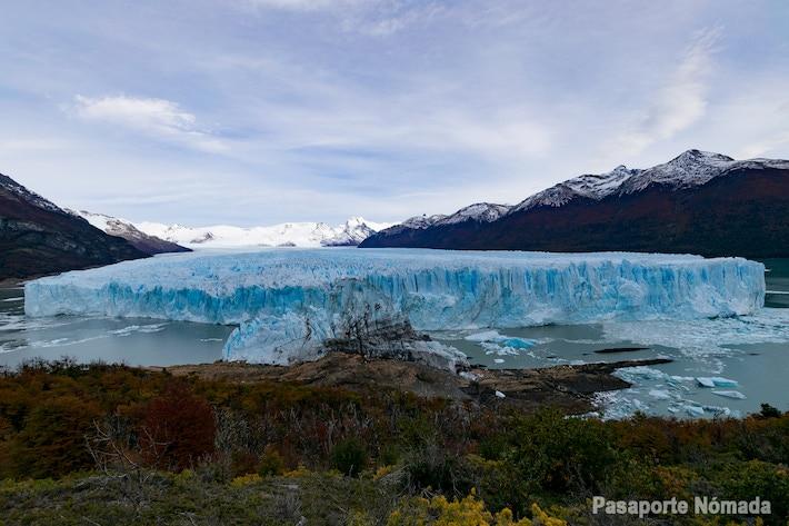 panoramica frontal del glaciar perito moreno