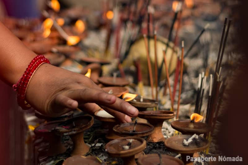 ofrendas en el templo varahi mandir