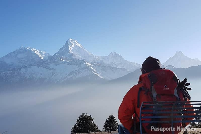 vistas hacia el annapurna desde poon hill