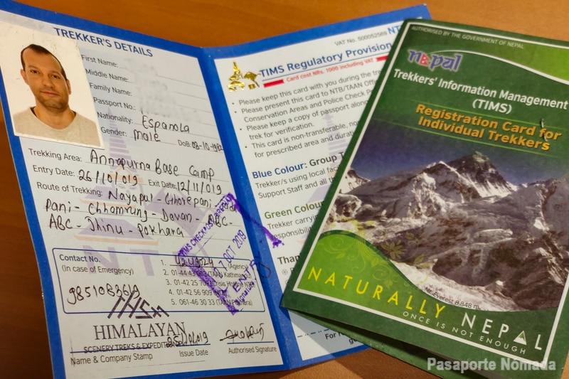 como obtener los permisos de senderismo para el trekking al campo base annapurna y poon hill
