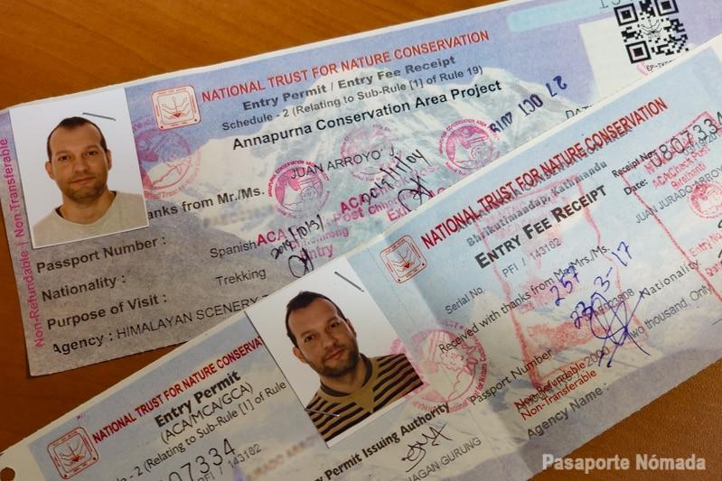 donde obtener los permisos de senderismo acap y tims nepal