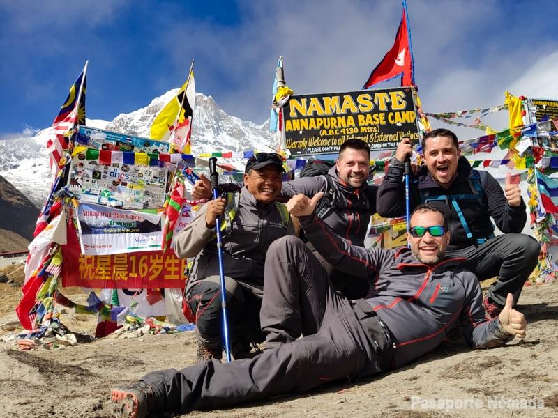 trekking al campo base del annapurna en 10 dias