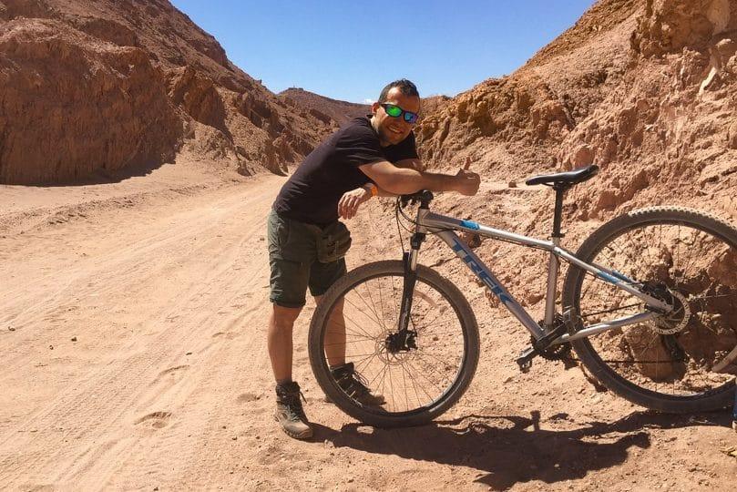 ruta en bicicleta por atacama valle de marte y pukara de quitor