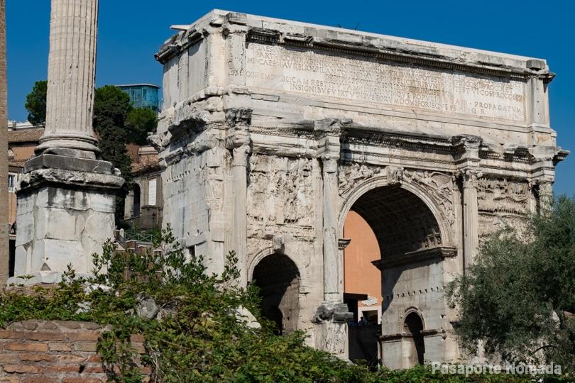 arco de septimo severo en el foro romano