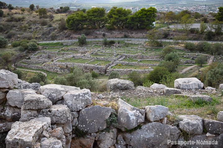 ruinas del templo y los santuarios de micenas