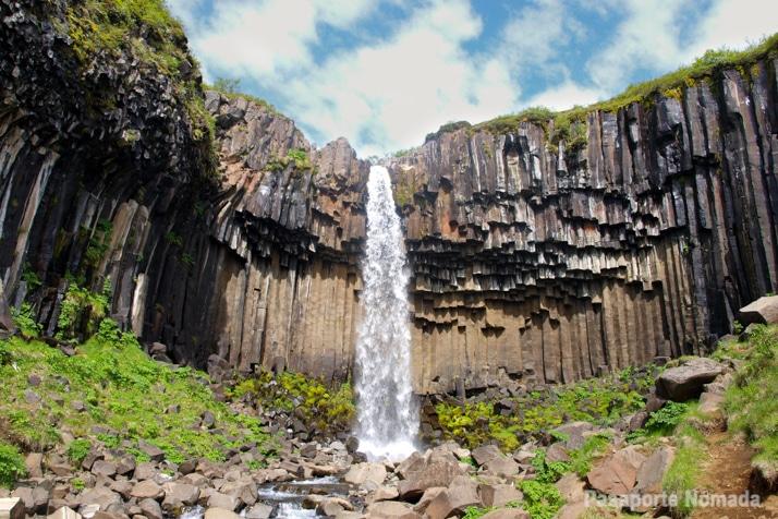 cascada de svartifoss skaftafell