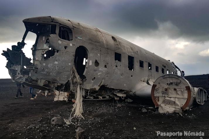 avion abandonado de islandia